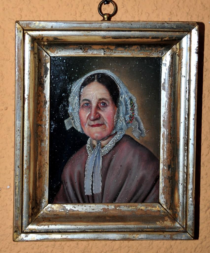 Alte Frau (Öl auf Metall)