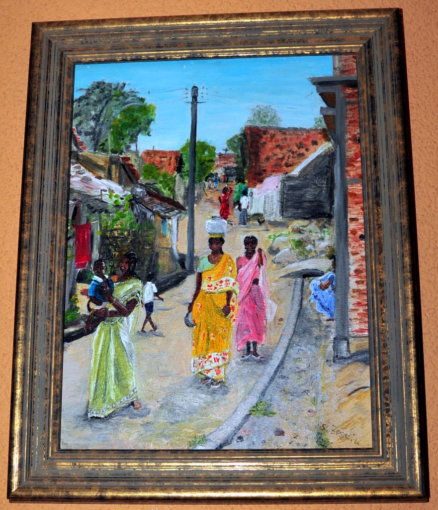 Straßenszene, Indien