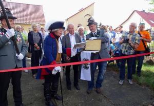 """Eröffnung Kunstscheune durch den """"Alten Fritz"""""""