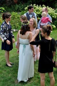 Die Braut empfängt die Gäste