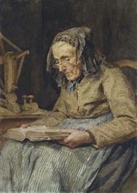 A. Anker Lesende Frau