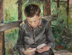 B. Pankok Lesender Junge