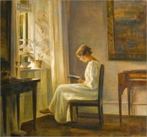 C. Holsoe Lesende Frau