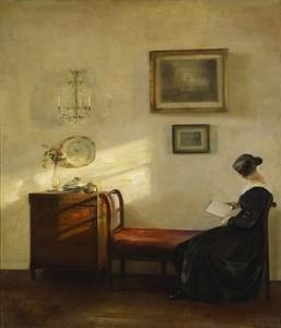 C. Holsoe Raum mit lesender Frau