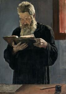F. Hodler Lesender Pfarrer