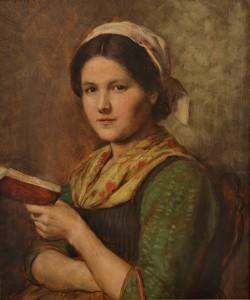 F.v. Defregger Lesendes Mädchen