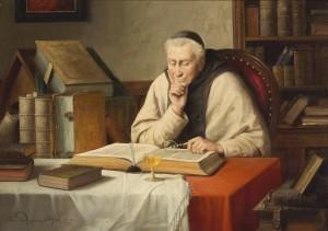 J. Wagner-Höhenberg Lesender Mönch