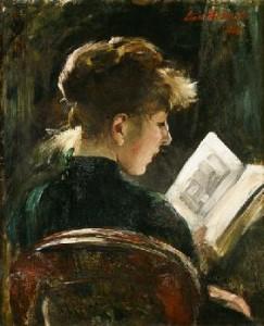L. Corinth Lesendes Mädchen