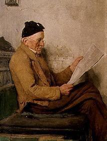 Lesender Bauer